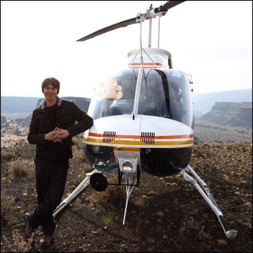 Brian Cox and chopper