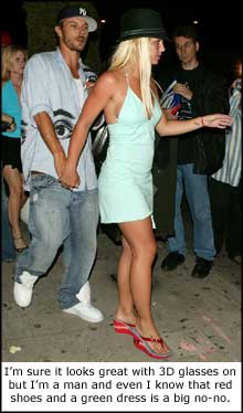 Britney. You wouldn't want to stalk someone with this bad fashion sense would you?