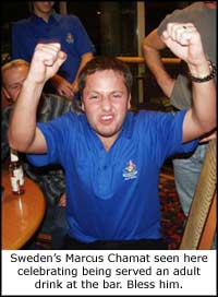 Marcus 'Napoleon' Chamat is the smallest pool player in the world.